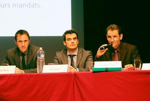 Julien Dugros, directeur appro et collecte, Sébastien Marty, directeur général, et Jean-Michel Billault, président de la Caproga. © R. FOURREAUX
