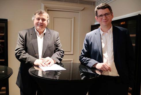 Jean-Yves Foucault, président, et Damien Bourgarel, directeur général de Limagrain © R. FOURREAUX