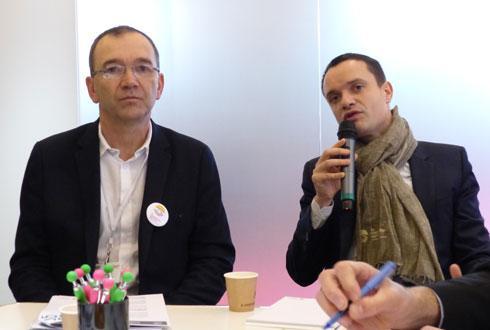Jérôme Calleau et Florent Varin, président et directeur opérationnel de l'Institut de la coopération agricole. © R. FOURREAUX
