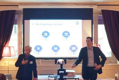 A gauche, François Attali, président de l'association Ferme France, épaulé par Maximilien Rouer, via sa société Adaptations, précédemment secrétaire général chez Terrena.