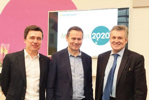 De gauche à droite, Frédéric Guyot, DG délégué, Jean-Pierre Dassieu, DG, et Thierry Blandinières, président de Gamm vert du groupe InVivo. © H. LAURANDEL