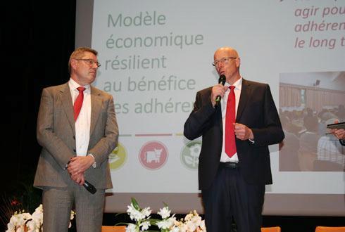 Jean-François Gaffet, président de Noriap, aux côtés de Martin Migonney, directeur général: «Nous devons créer de la valeur chez les adhérents, en nous intéressant à de nouveaux métiers.» © B.CAILLIEZ