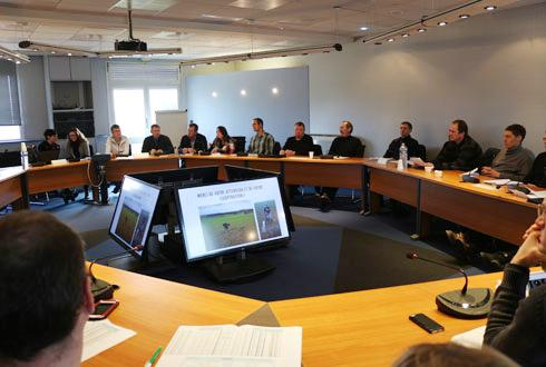 Réunion de restitution de l'étude «Impact des pratiques agricoles sur la qualité biologique des sols» au siège de Lorca, le 13février. © D.PÉRONNE